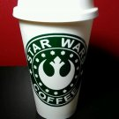 Star Wars Plastic Reusable Travel Mug - White N Green