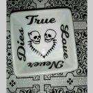 Skull Love - Skull Couple ring dish - true love never dies ring dish - trinket