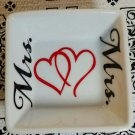 Mrs and Mrs wedding gift ring dish - ring dish - trinket