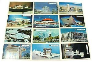 Vintage 1963 New York World's Fair RCA GM Kodak Unused Postcards Cards Lot of 12