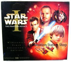 Star Wars Phantom Menace VHS Tape Collectors Edition w/35mm Film Strip Brand New