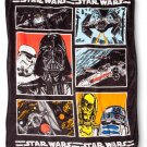 "Disney Star Wars Darth Vader R2-D2 C-3PO TIE-Fighter X-Wing Plush Throw Blanket 60""x50"" Brand New"