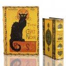 Steinlen LE CHAT NOIR Black Cat Nestling Book Box Set Secret Storage Art Decor