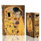 Gustav Klimt THE KISS (Lovers) Book Box Secret Jewelry Box Woman in Gold Art