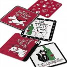 PET PARTY Collection: PET DOG CAT With WINE Coasters Gift Set of 25