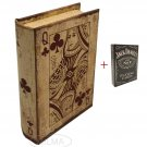Queen of Hearts Playing Card Book Box + Jack Daniel's Playing Cards