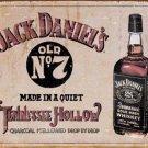 JACK DANIEL'S TENNESSEE WHISKEY TIN SIGN, RETRO VINTAGE BAR DECOR, USA