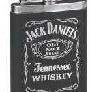 Jack Daniel's Leatherette Cover Flask 6oz. Official Licensed Product Gift Boxed