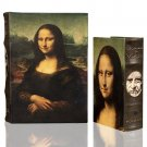 Da Vinci MONA LISA Book Box Set Secret Storage Wood Box Coffee Table Art Decor