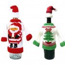 Christmas Party Wine Bottle Cover Ugly Sweater Set of 2 Christmas Wine Decor