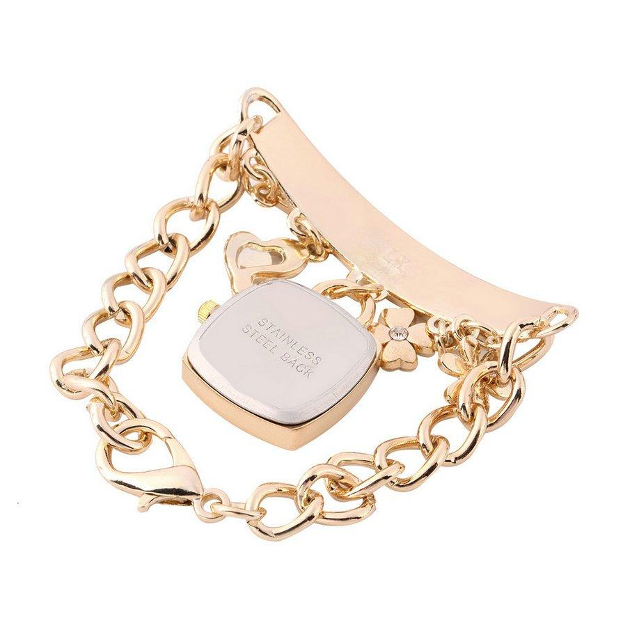 Fashion Women Girl Flower Pendants Bracelet Wrist Watch Casual Dress Watch #E