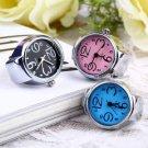 Creative Fashion Steel Round Elastic Quartz Finger Ring Watch Lady Girl Gift HS