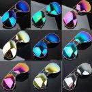 Unisex Women Men Vintage Retro Fashion Aviator Mirror Lens Sunglasses Glasses HH