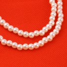 Hot Sale Fashion White Artificial Pearls Long Chain Charms Necklace Valentine #&