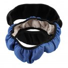 Car Auto Universal Elastic Handmade Skidproof Steering Wheel Cover Blue/Black H5