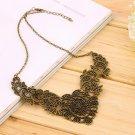 Fashion Women Retro Vintage Hollow Pendant Choker Necklace Short Chain HS