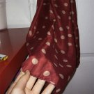 Women Grid Polka Dot Pattern Long Chiffon Soft Silky Wrap Shawl Scarves #W