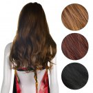 Stylish Womens Long Brown Curly Wavy Full Wigs Party Hair Cosplay Fashion Wig @*