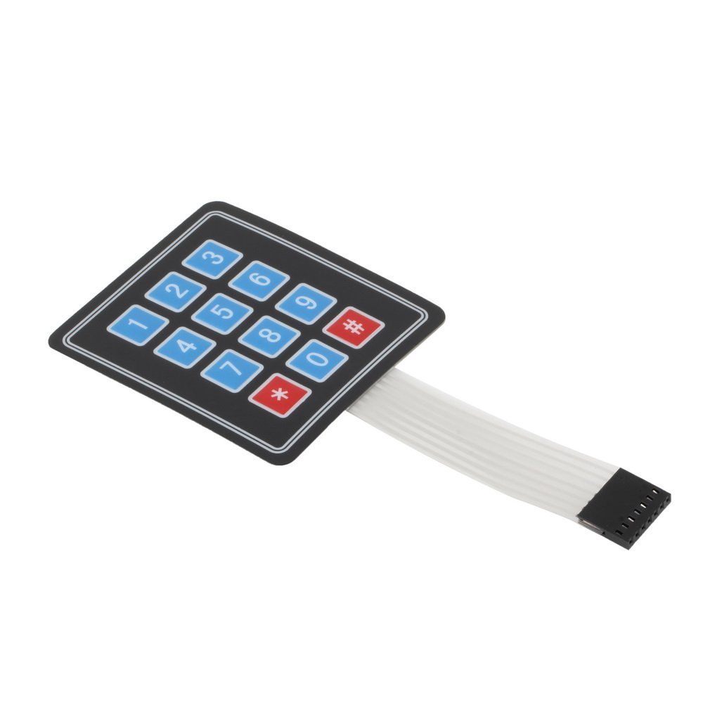 Matrix Array 12 Key Membrane Switch Keypad Keyboard For Arduino AVR 4 x 3 CA