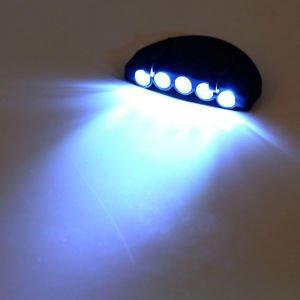 New Head Lamp 5 LED Head Light Fishing Camping Hunting Hiking Hat Torch Hunt HS