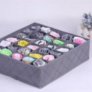 NEW 30 Cells Bamboo Charcoal Ties Socks Drawer Closet Organizer Storage Box H5