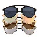 New Classic Large Sunglasses Women Metal Frame Cat Eye Glasses Fashion HS