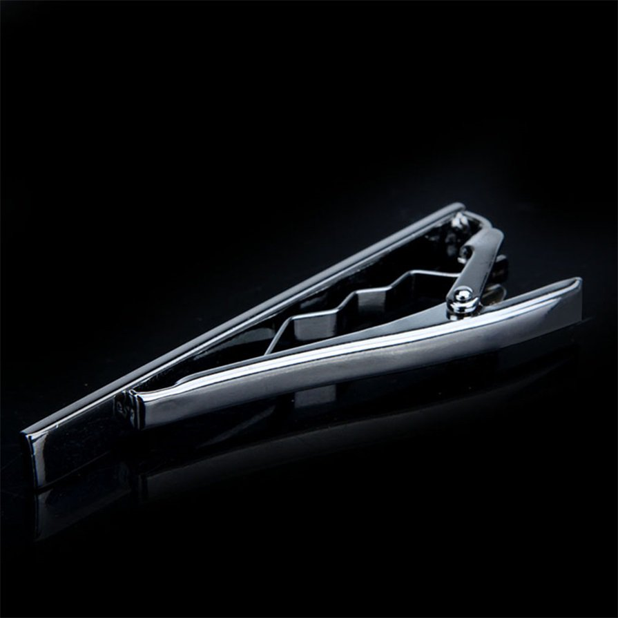 Fashion Simple Men Necktie Silver Tone Metal Clamp Decoration Tie Clip #G