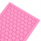 Soft Silicone Mat Hexagon Design Cake Border Decorating Baking Mold Tool #S