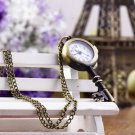 Retro Vintage Pocket Key-shaped Watch Necklace Wall Chart Pendant #D
