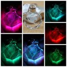 New Fairy Tail Anime Crystal LED Light Charm Key Chain Key Ring Cosplay 1PC #*