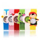 Fashion Animal Slap Snap On Silicone Wrist Watch Boys Girls Children Kids #h