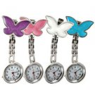 Cute Pendant Butterfly Nurse Clip-on Brooch Quartz Hanging Pocket Watch New HS