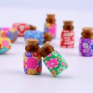 10 pcs Mini Glass Polymer Clay Bottles Containers Vials With Corks HS