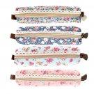 Girls Flower Lace Floral Pencil Case Pen Bag Purse Cosmetic Makeup Pouch Bag HS
