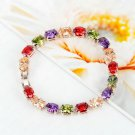 Women Girl Colorful Crystal Rhinestone Bracelet Fashion Jewelry Gifts HS