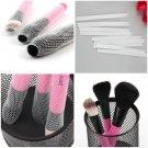 10 Pcs Cosmetic Make Up Brush Pen Netting Cover Mesh Sheath Protectors Guards CA