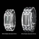 Luxury Men Women Waterproof Stainless Steel Date Digital Binary LED Watches @*