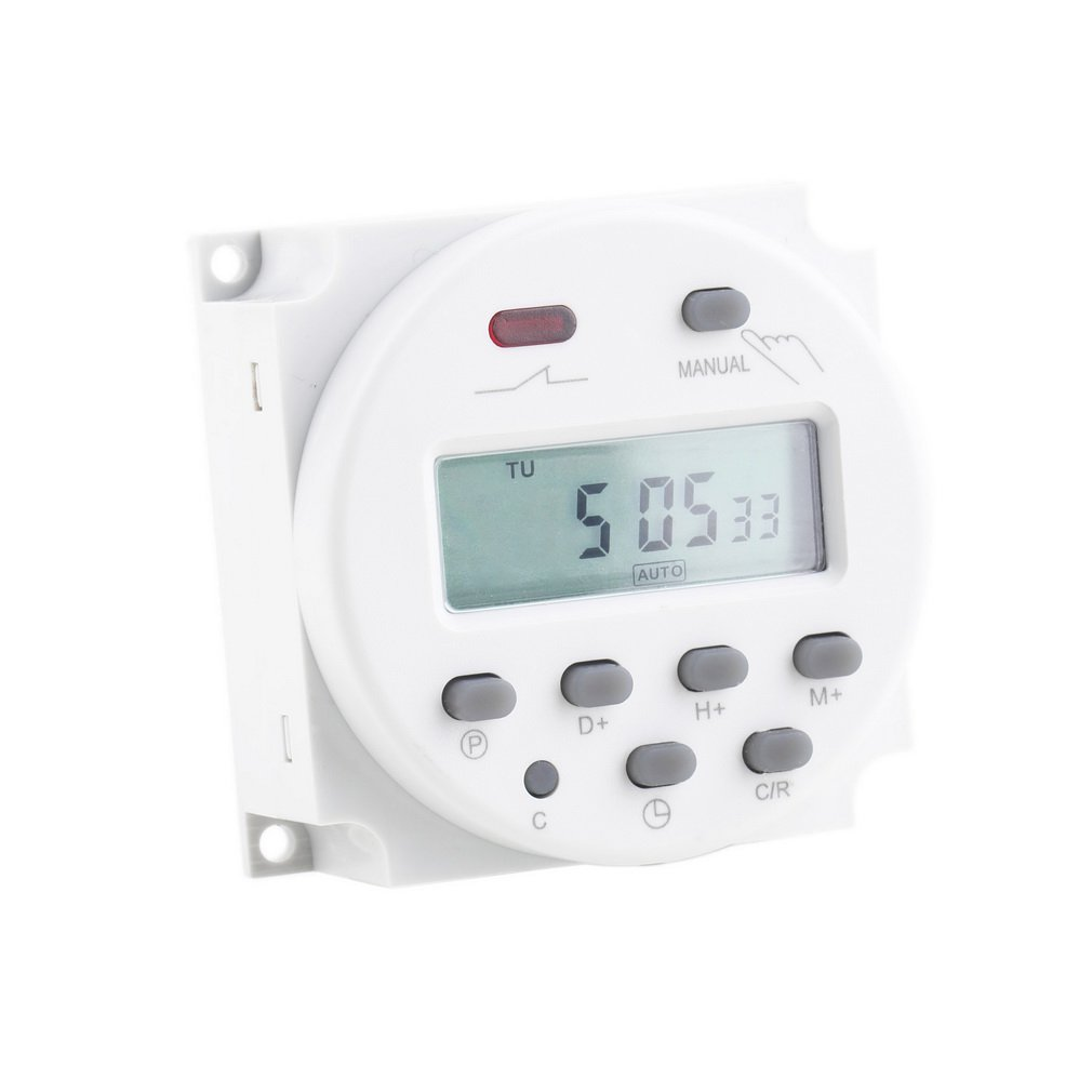 New LCD Digital Power Programmable Timer AC 12V 16A 4.4VA Time Relay Switch #h