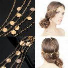 Women Fashion Metal Rhinestone Head Chain Jewelry Headband Head Piece Hairband S