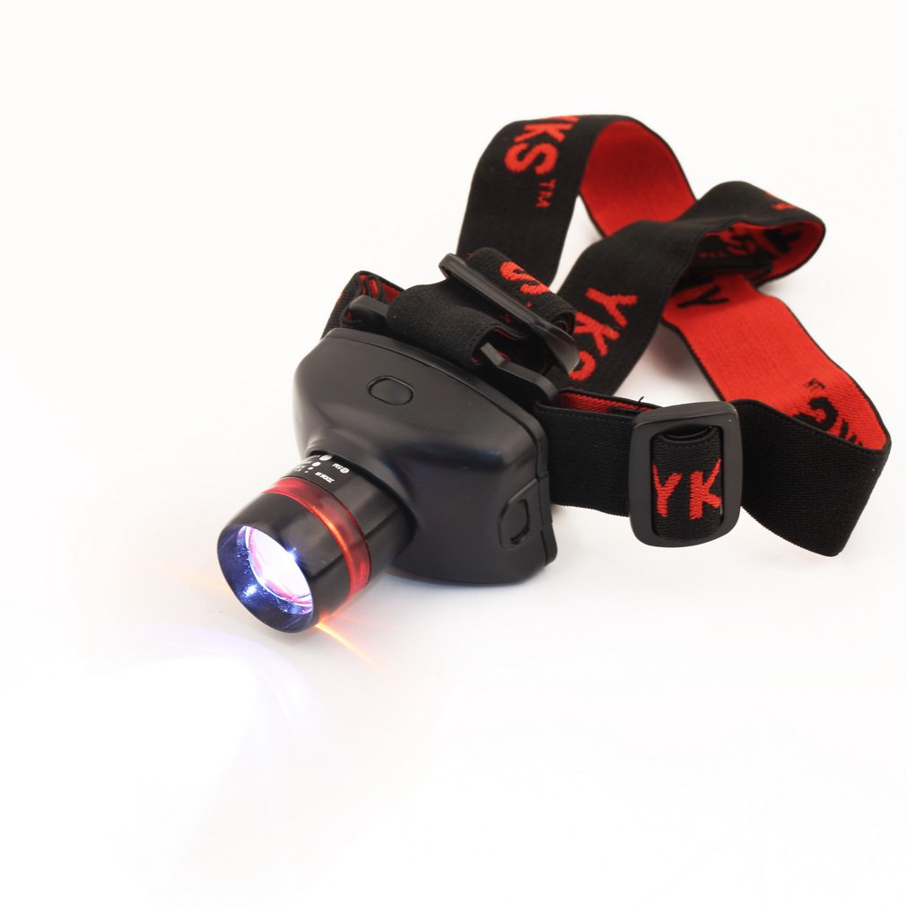 YKS Ultra Bright LED Headlamp 4 Modes for Camping Hiking Fishing and Reading H2