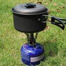 Outdoor Picnic Butane Gas Burner Portable Camping Mini Steel Stove Case HS