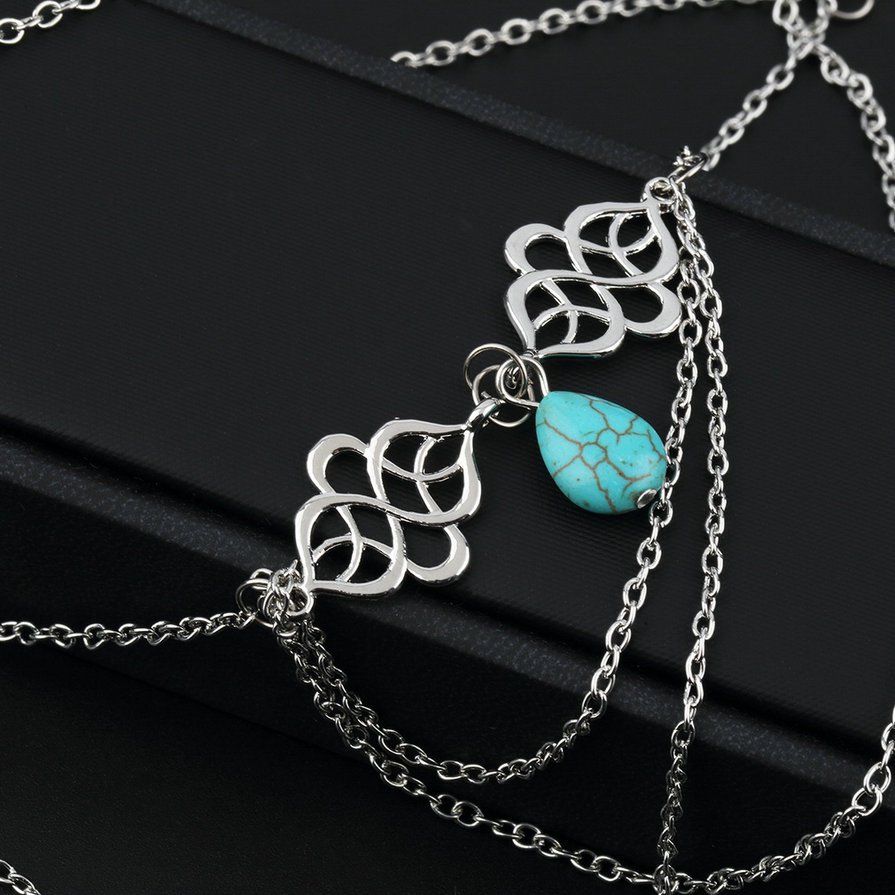 Women's Sexy Arm Chain Water Drop Tassels Bracelets Jewelry Accessories HS