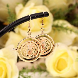 New Rotating Hermione Time-Turner Earrings Pendant Fashion HS