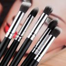 5 pcs Silver Black Soft Synthetic Small Blending Foundation Concealer Brush HS
