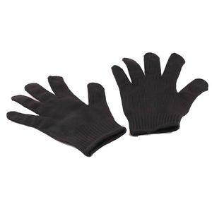 1Pair Black Stainless Steel Wire Safety Works Anti-Slash Cut Resistance Glove CA