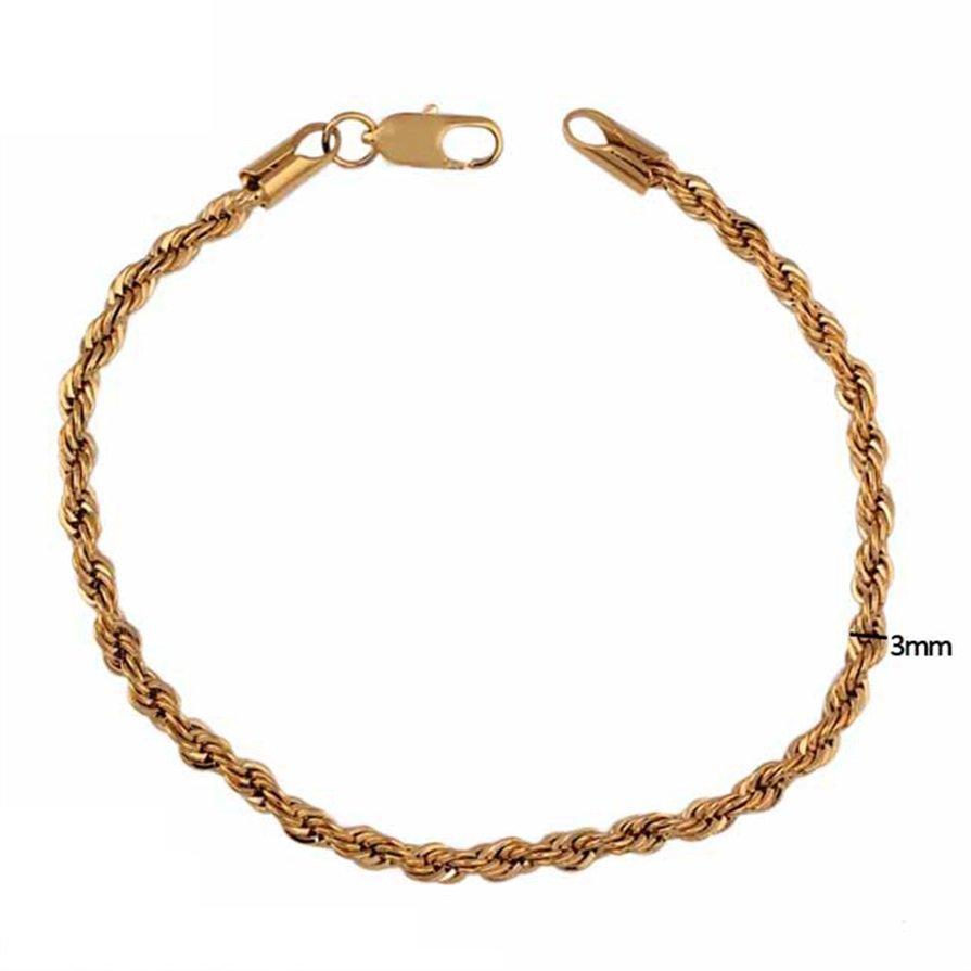Fashion Classical Women Twisted Charm Bracelet Cuff Bangle Chain Jewelry Gift H5