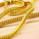 Amazing Men's Stainless Steel Curb Lion Head Pendant Gold Chain Necklace HS