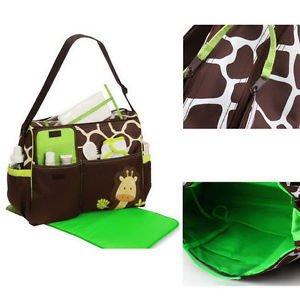 Carter Multi Function Baby Diaper Nappy Bag Giraffe Print Lovely Durable #A