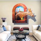 Huge Window 3D Giraffe Wall Sticker Mural Decal Wallpaper Home Decor Paper #A