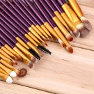 Pro 20Pcs Superior Cosmetic Brushes Set Kit Makeup Tool Brushes #G